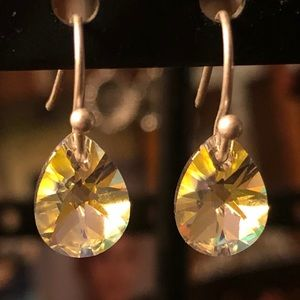 5/$25 Swarovski Teardrop Crystal 14K GP Earrings